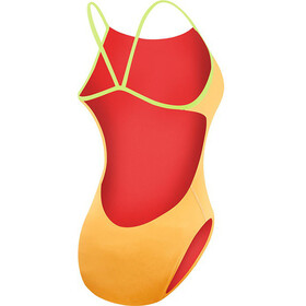 TYR Solid Cutoutfit Bathing Suit Women fluo orange/yellow
